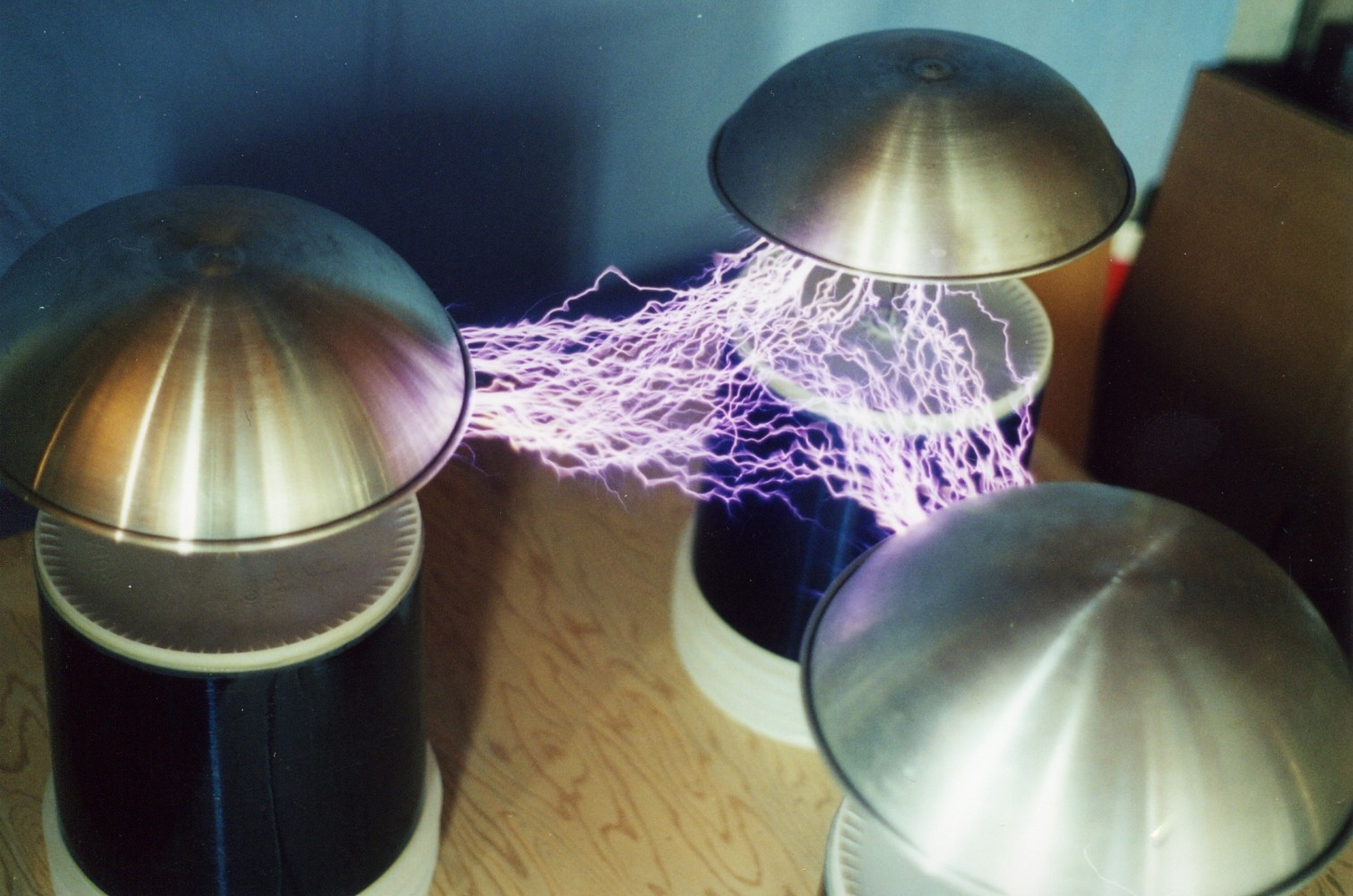 2000 3-phase Tesla coil system with 60 Hz half-wave rectified power - 3