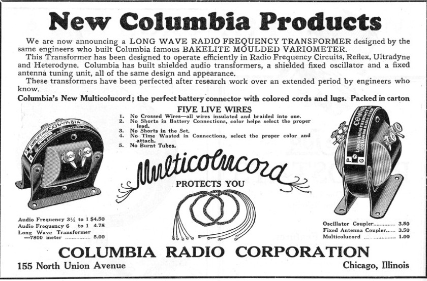 Columbia ad CRCB Fall 1924