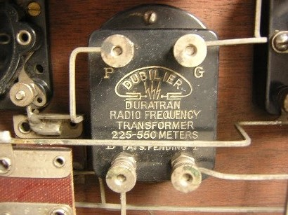 Dubilier Radio Frequency Transformer